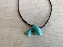 Aventurin-Delfin-Anhänger, gebohrt