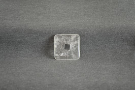 Bergkristall-Quadrat-Donut 3 x 3  cm
