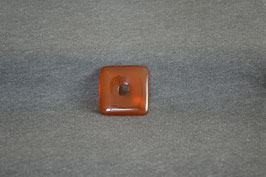 Carneol-Quadrat-Donut 3 x 3  cm