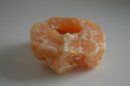 Orangencalcit-Windlicht