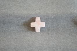 Rosenquarz-Kreuz-Anhänger