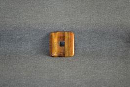 Tigerauge-Quadrat-Donut 3 x 3  cm