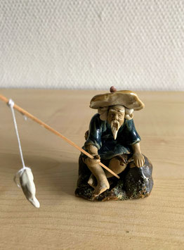 Bonsai-Figur 'Fischer' aus Keramik - 5