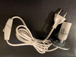 Elektrokabel mit Fassung und Ein/Aus-Schalter für Sockellampen 2