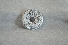 Schneeflocken-Obsidian-Donut  5 cm