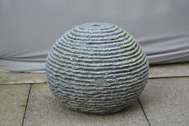 Granitkugel, gestuft, grau