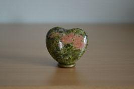 Epidot-Herz - 4 cm