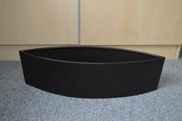 Zimmerbrunnen-Schale Schiff-Form, schwarz