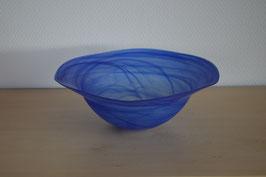 Glasschale 25  cm, blau
