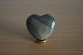 Silberstreifen-Jaspis-Herz - 4 cm