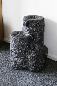 Granit-Sprudelstein 3er Säulen-Kombination