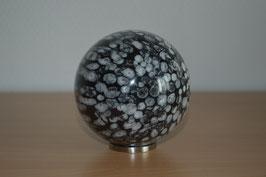 Edelstein-Kugel Schneeflocken-Obsidian, 8 cm