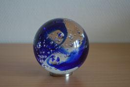 Glaskugel 8 cm, blau, kalibriert