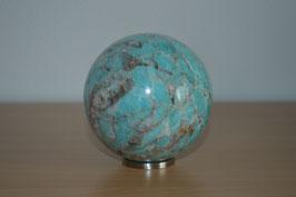 Edelstein-Kugel Türkis , 8 cm
