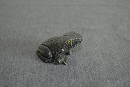 Speckstein-Frosch, schwarz, klein - 2