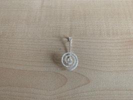 runder Donuthalter in Spiralform, klein - matt gebürstet