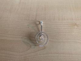 runder Donuthalter in Spiralform, mittel - matt gebürstet