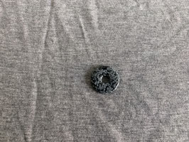 Schneeflocken-Obsidian-Donut 3 cm