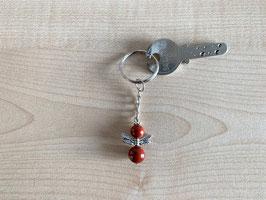 Jaspis rot-Engel-Schlüsselanhänger, Flügeltyp 6