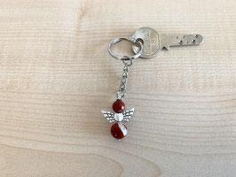 Jaspis rot-Engel-Schlüsselanhänger, Flügeltyp 1
