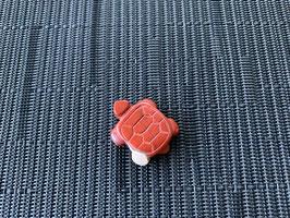 Jaspis rot-Schildkröte-Anhänger, gebohrt