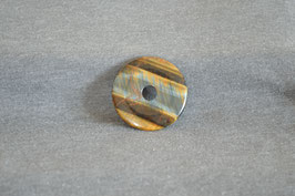 Tigerauge mit Falkenauge-Donut 4 cm