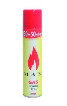 Max Feuerzeuggas Kunststoff 250ml + 50ml gratis!