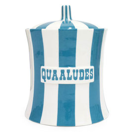 QUAALUDES CANISTER TEAL AND WHITE