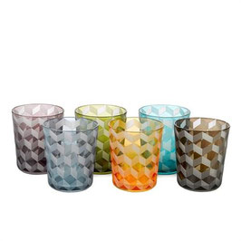 GLASS TUMBLER BLOCKS MULTICOLOR