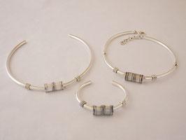 Parure C33 torque (rigide) ou C3 articulé + Bracelet N°3