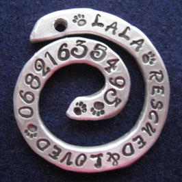 Spirale aus Aluminium