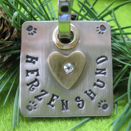 Herzenshund, Charm/ Anhänger fürs Halsband