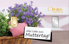Alles Liebe zum Muttertag mit einem Goldbarren ab 0,10 g und einem Silberbarren ab 1 g M1GS