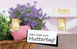 Alles Liebe zum Muttertag mit zwei Goldbarren ab 0,1 Gramm M1G2