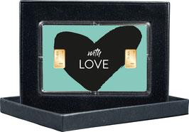 With Love mit zwei Goldbarren ab 0,50 Gramm M13G2