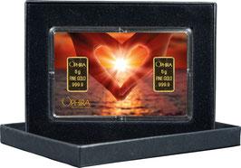 Herz aus zwei Händen mit zwei Goldbarren ab 0,50 Gramm M1G2