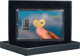 Herz im Herz mit einem Silberbarren ab 1 Gramm M6S1