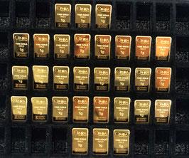 30 OPHIRA Goldbarren zu je 1 g