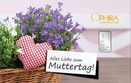 Alles Liebe zum Muttertag mit Silberbarren ab 1 Gramm M1S1