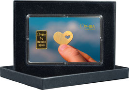 Herz im Herz mit einem Goldbarren ab 0,50 Gramm M6G1