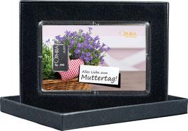Alles Liebe zum Muttertag mit Silberbarren ab 1 Gramm - Herz mit Lavendel- M1S1