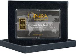 Ophira Geschenkkarte mit Goldbarren ab 0,5 g bis 10 g mit Aufbewahrungsbox