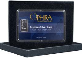 Ophira Geschenkkarte mit einem Silberbarren ab einem Gramm