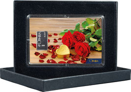 Rosen und Herz mit einem Silberbarren ab 1 Gramm M5S1