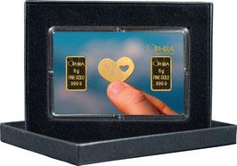 Herz im Herz mit zwei Goldbarren ab 0,50 Gramm M6G2