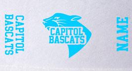 Gametowel mit Logo und Wunschname