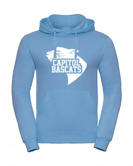 Hoodie Sky Blue mit Capitol Bascats Logo
