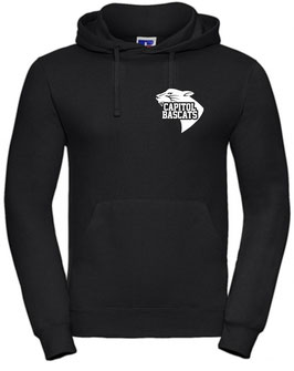 Hoodie Black mit Capitol Bascats Logo