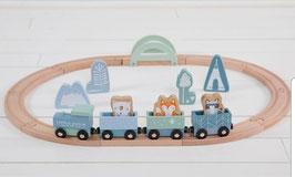 Holz Zug mit Schienen