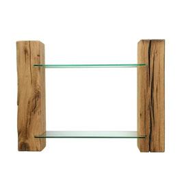 Gläser Regal Eiche mit Glasböden RG19